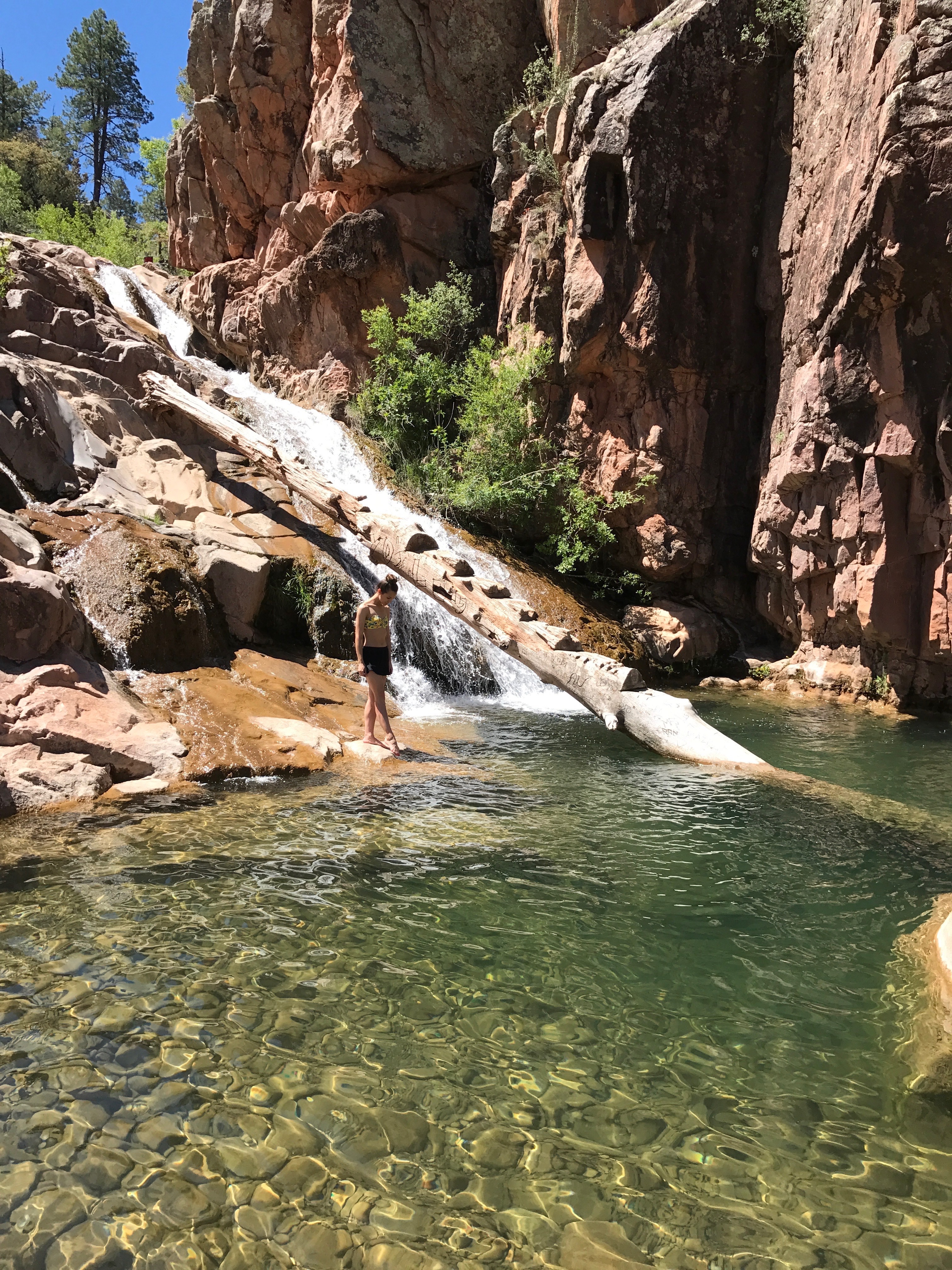 An Arizona Hike Leads You To Clear Blue Water & Red Rock